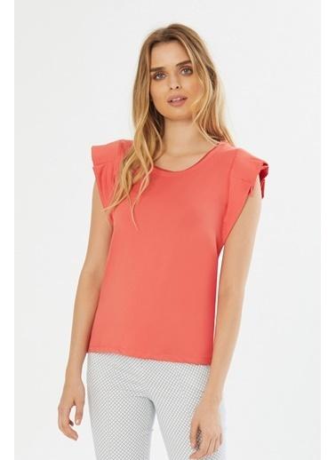 NaraMaxx Kol Detaylı Bluz Oranj